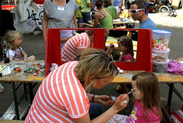 Kinderfest mit Kinderschminken