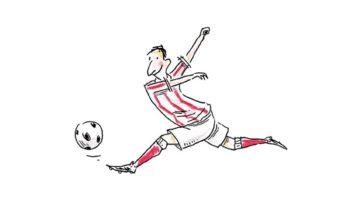 Ausschnitt des Buchcovers: Lob des Fussballs von Jürgen Klaube