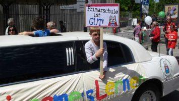 Demo in Hamburg für die Schulreform bzw. die Primarschule 2009