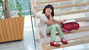 Kind vor dem Lernentwicklungsgespräch