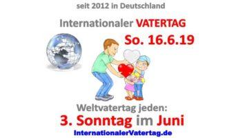 Internationaler Vatertag an jedem 3. Sonntag im Juni