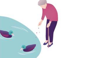 Ausschnitt Buchcover: Die Eltern im Alter begleiten